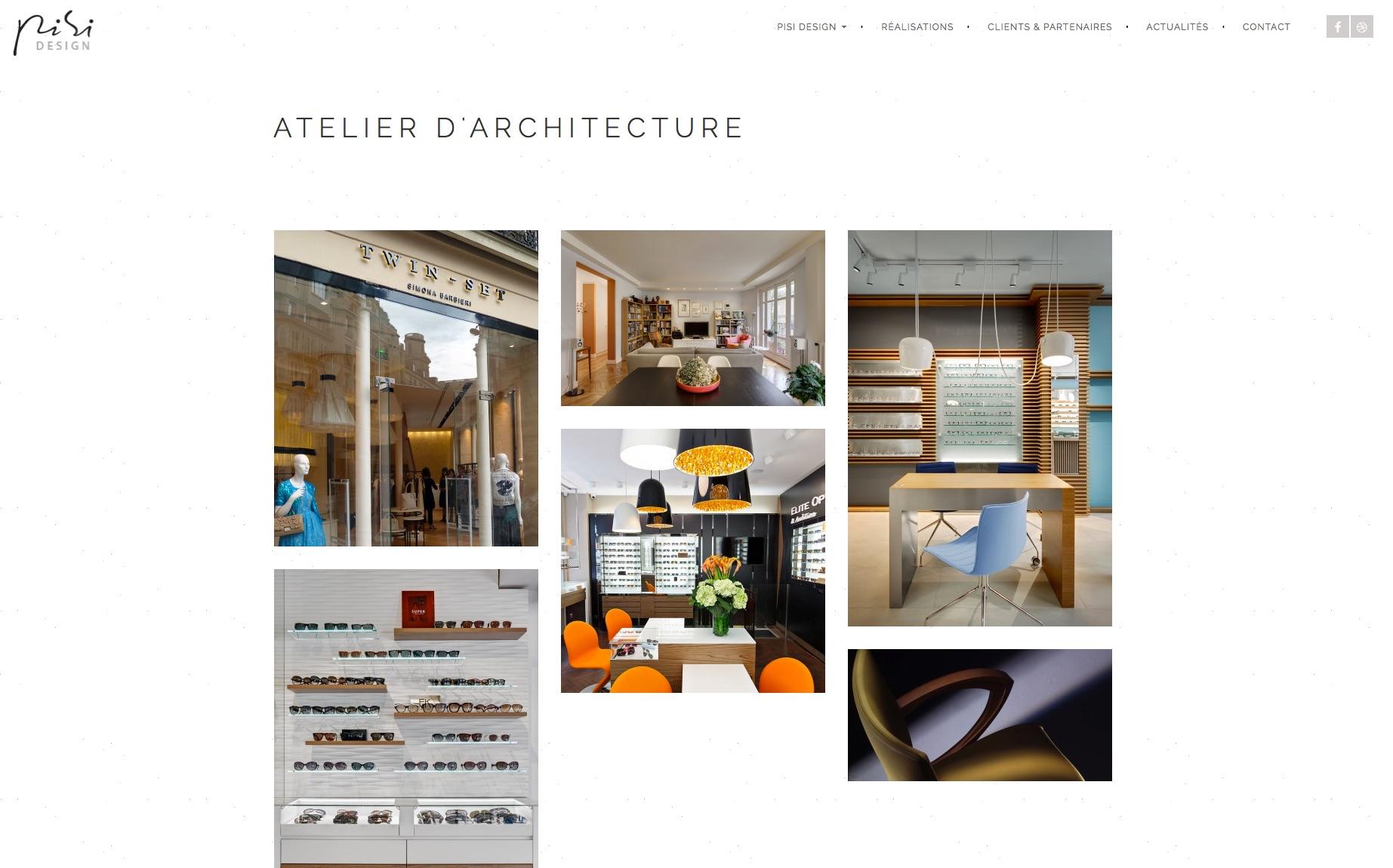 Pisi Design presente son nouveau site web